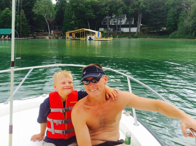 Wil and Matt Walloon Lake 2015
